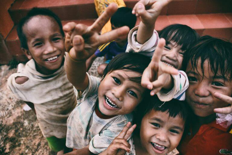 Children Above Happy