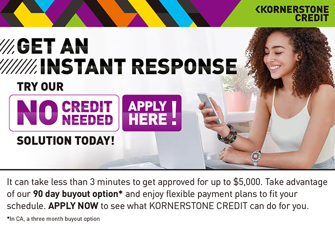 Apply Now with Kornerstone Credit